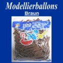 Modellierballons, Braun, 100 Stück