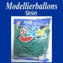 Modellierballons, Grün, 100 Stück