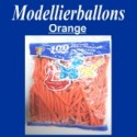 Modellierballons, Orange, 100 Stück