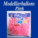 Modellierballons, Pink, 100 Stück