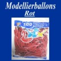 Modellierballons, Rot, 100 Stück