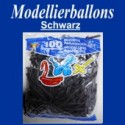Modellierballons, Schwarz, 100 Stück