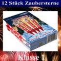 Zaubersterne, kleines Feuerwerk, 12 Stück