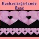 Hochzeitsdeko-Girlande Rosé 15 cm 10 Stück