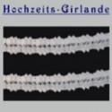 Hochzeitsdeko-Girlande Weiß 11cm