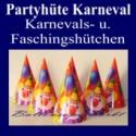 Partyhüte zu Karneval und Fasching, 6 Karnevalshütchen