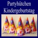 Partyhüte Kindergeburtstag, 6 Geburtstags-Partyhütchen