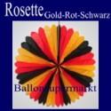 Rosette, Gold-Rot-Schwarz, Dekorosette Deutschland