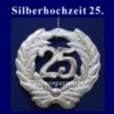 Silberne Hochzeit, 25 Jahre, Zahlendeko
