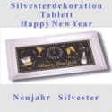 Silvester-Tischdekoration, Tablett Happy New Year