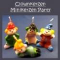 Mini-Clown Kerzen 4 Stück