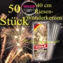 Maxi-Wunderkerzen, Riesen-Funkensprüher, 40 cm, 5 Packungen, 50 Stück
