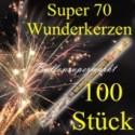 Wunderkerzen, Superlang, 70 cm, 20 Packungen, 100 Stück