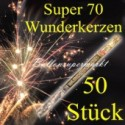 Wunderkerzen, Superlang, 70 cm, 10 Packungen, 50 Stück