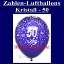 Zahlen-Luftballons-Kristall, 50