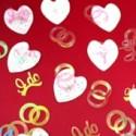 Konfetti, Streudeko Hochzeit, Herzen und Ringe