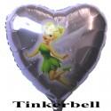 Luftballon Tinkerbell, Folienballon-Herz mit Ballongas
