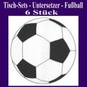 Tischdeko-Set Untersetzer Fußball, 6 Stück