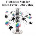 Tischständer Disco Party, 70er Jahre Disco-Fever Tischdekoration