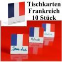 Tischkarten Frankreich, 10 Stück