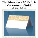 Tischkarten Ornament Gold, 4,5 cm x 8,5 cm, 25 Stück