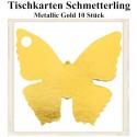 Tischkarten - Gold, Schmetterling, 10 Stück