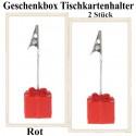 Tischkartenhalter, Geschenkbox - Rot, 2 Stück