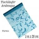Deko-Tischläufer, Tischdecke Arabesque Türkis