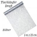 Deko-Tischläufer, Tischdecke Draft, Silber