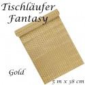 Deko-Tischläufer, Tischdecke Fantasy, gold