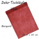 Deko-Tischläufer, Tischdecke, Vlies, burgund