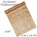 Deko-Tischläufer, Tischdecke Wildlederoptik, gold