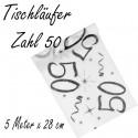 Deko-Tischläufer, Tischdecke Zahl 50