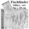 Deko-Tischläufer, Tischdecke Artistique Silber