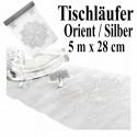 Deko-Tischläufer, Tischdecke Orient Silber