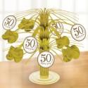 50 Happy Years, Mini Tischsständer Zahl 50, Goldene Hochzeit