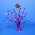 Tischständer Pink Celebration 40, Tischdekoration 40. Geburtstag