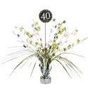 Tischständer Sparkling Celebration 40, Tischdekoration 40. Geburtstag