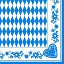 Tissue Dekor Servietten, Bayrisches Muster, 50 Stück