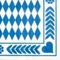Oktoberfest Tissue Servietten, Bayrisches Muster, 20 Stück