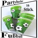 Trinkbecher Fußball 10 Stück Set