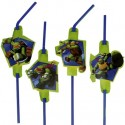 Ninja Turtles, Trinkhalme, 8 Stück