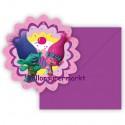 Trolls, Einladungskarten zum Kindergeburtstag, 6 Stück