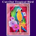 Cut-Out Tropical Bird, Hawaii-Partydekoration