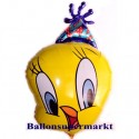 Luftballon Tweety Party, Folienballon ohne Ballongas