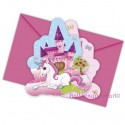 Unicorn, Einladungskarten zum Einhorn Kindergeburtstag, 6 Stück