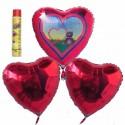 Bouquet Valentinstag 11, Helium-Luftballons, Alles Liebe