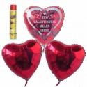 Bouquet Valentinstag 12, Helium-Luftballons, Zum Valentinstag Alles Liebe