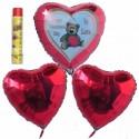Bouquet 7, Helium-Luftballons, Happy Valentine's Day, In Love