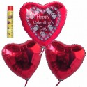 Bouquet 8, Helium-Luftballons, Happy Valentine's Day